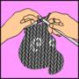 knitting maus by Wiesi