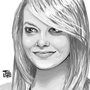 Emma Stone Portrait by FLASHYANIMATION