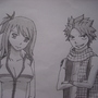 Natsu and Lucy by brmalone