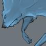 Blue Wolf by thewendigo