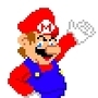 Pixelated Mario