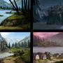 Lake Castles by JonWing