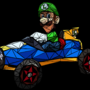 "Luigi's ""Death Stare"" Mosaic by klopki"