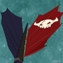 Toothless' Battle Flag
