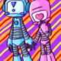 Cute Lil Robots by Walkingpalmtree