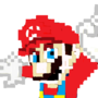 Pixelart Mario by Bluecosmic2012
