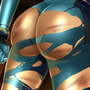 Battle damage Samus by TheShadling