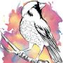 Watercolor Bird by Elleautumn