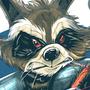 Rocket Raccoon by geogant