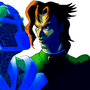 Kakyoin and Hierophant Green by Smashega