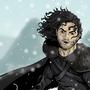 Jon Snow & Ghost by gregoryjramos
