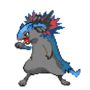 Typhlosion and Lucario mix