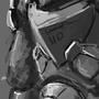 SciFi soldier by BazookaBonsai