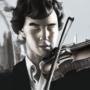 Sherlock with violin