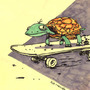 Skateboarding Turtle by jaccabe