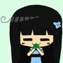 Rea eating a leaf oh hydrangea by sasha9n
