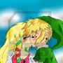 Link and Zelda by AshiroKei