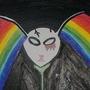 Rainbow Rabbit SkullFlower