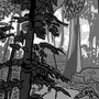 Grayscale Forest by Sanbles