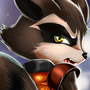 Rocket Racoon by TheShadling