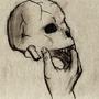 Skull in Hand by Dizzyman888