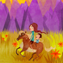 Purple Mountain Plains by odditiesbyangela