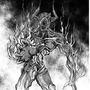 Black hole demon by FASSLAYER