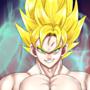 Son Goku Super Sayan by CherryLolo