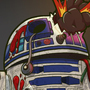R2-D2 Zombie by PKShayde