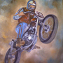 Motorcycle Oil Painting by reanimatearts
