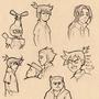 Medabots Sketch dump 02 by Duck-Empress
