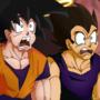 Goku and Vegeta Scene Redraw by AngelXMIkey