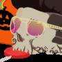 Halloween skull by Miroko