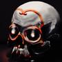 SleepyCabin Skull by ProfessorClockwork