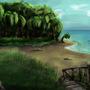 Beach sketch by MaxRH