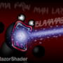 He's firing his lazor. by RazorShader