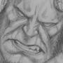 Hellboy headsketch by bella-art
