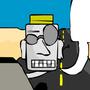 Man In Car by Cyberdevil