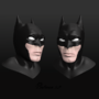 Batman 3d head by saberwolf1309