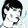 Cigarette Girl #17 by Crystalspike