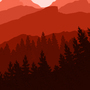 mountains red. by AndreCristillo