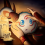 Bloodmoon poro by Tikonka