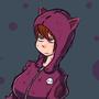 Girl in a Cat Hoodie
