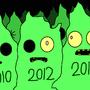 Zombie Christmas Trees by JTBPreston