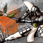 White Samurai by MelesMeles