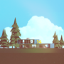 Low Poly Modern Home by devilsgarage