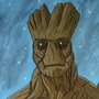 Groot Painting by EmuToons