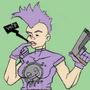 Punkgirl 2 doodle by AnthonyDavila