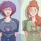 Elika and Linds t-shirts