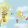 Sonic vs goku by HAVT